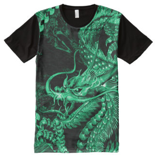 Emerald Chinese Emperor Dragon Art Custom All-Over Print T-Shirt