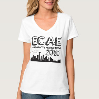 Emerald City Author Event 2016 - Women's V-Neck T-Shirt
