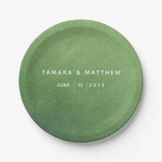 Emerald City Paper Plate