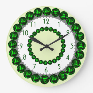 Emerald Clock with Numbers