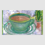 Emerald Coffee CricketDiane Coffee Art Rectangle Stickers