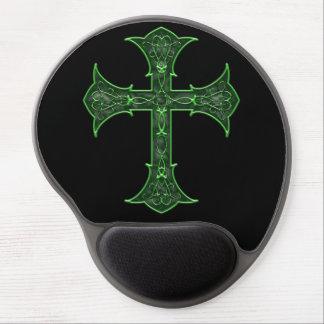 Emerald Cross Gel Mousepads