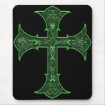 Emerald Cross Mouse Pad