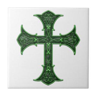 Emerald Cross Small Square Tile