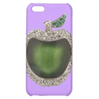Emerald Diamonds Jeweled Apple iPhone 4 case Purpl