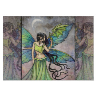 Emerald Dragon Fairy Fantasy Art Cutting Boards