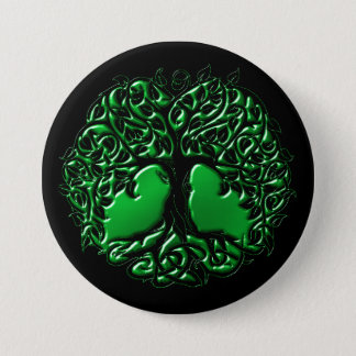 Emerald Druids Tree Button