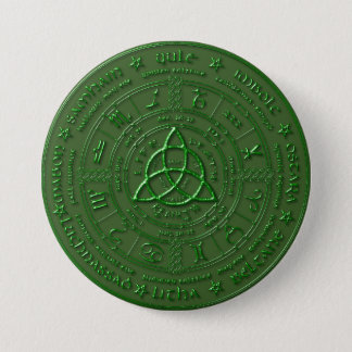 Emerald Earth Celtic Zodiac Button