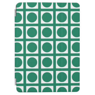 Emerald Elegant Grid Dots iPad Air Cover