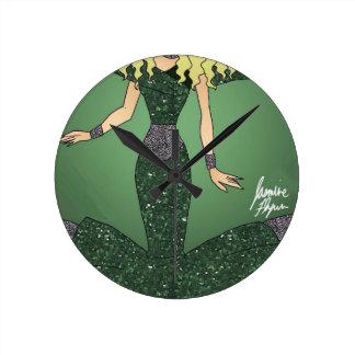 Emerald Empress Round Clock