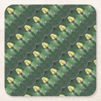 Emerald Empress Square Paper Coaster
