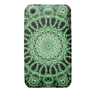 Emerald Eye Mandala iPhone 3 Cover