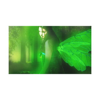 Emerald Fairy Wall Hanging Gallery Wrapped Canvas