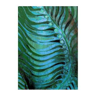 Emerald Feathering II Acrylic Wall Art