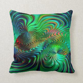 Emerald Green  Abstract Cushion