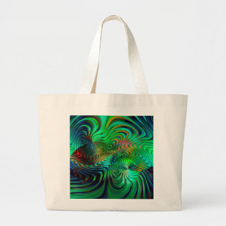 Emerald Green  Abstract Large Tote Bag
