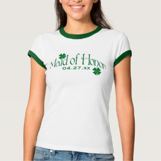 Emerald Green and White Shamrock MOH T-shirt
