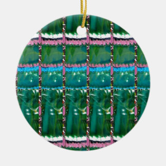 Emerald Green ART Pattern CRYSTAL Stone GIFTS Christmas Tree Ornament