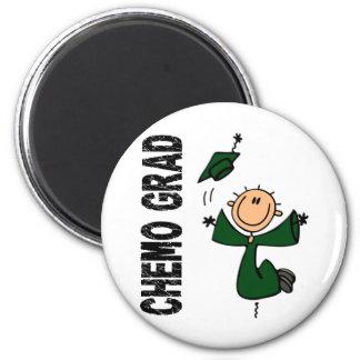 Emerald Green CHEMO GRAD 1 (Liver Cancer) 6 Cm Round Magnet