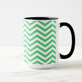 Emerald Green Chevron; Chalkboard Mug