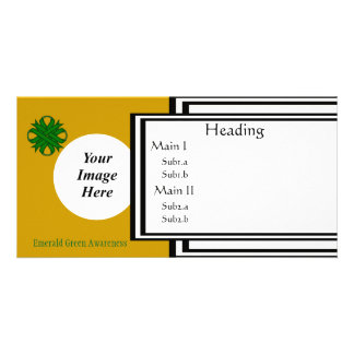 Emerald Green Clover Ribbon Template Customised Photo Card