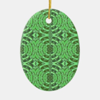 Emerald Green DIAMOND Graphics Ceramic Oval Decoration