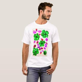 Emerald Green Flowers by DelynnAddams T-Shirt
