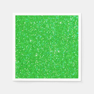 Emerald Green Glitter Effect Sparkle Disposable Serviette