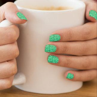Emerald Green Glitter Minx Nail Art