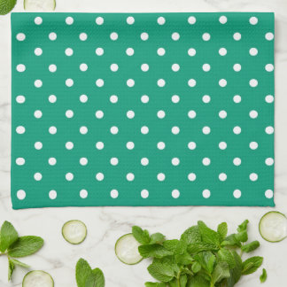 Emerald Green Heart With Name Tea Towel