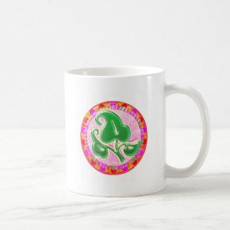 Emerald Green Leaf Jewel Mugs