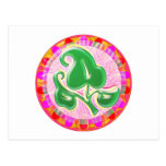 Emerald Green Leaf Jewel Postcard