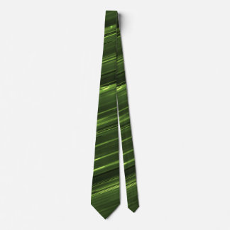 Emerald green lines of light tie