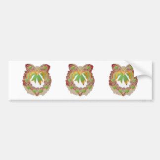 Emerald Green LITTLE Hearts Wreath Bumper Sticker