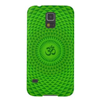 Emerald Green Lotus flower meditation wheel OM Galaxy S5 Case