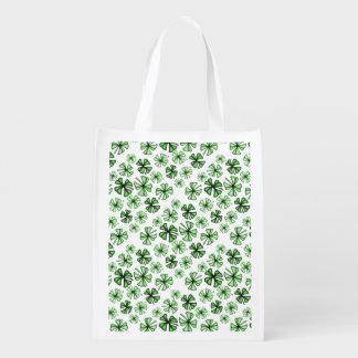 Emerald-Green Lucky Shamrock Clover