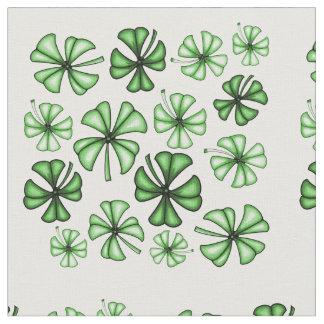 Emerald-Green Lucky Shamrock Clover Fabric