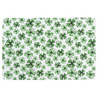 Emerald-Green Lucky Shamrock Clover Floor Mat