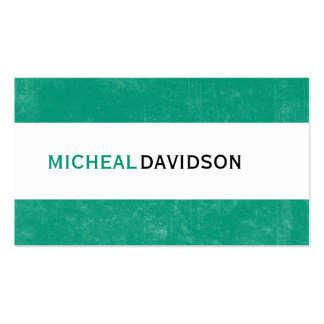 Emerald Green Modern Consultant Business Cards
