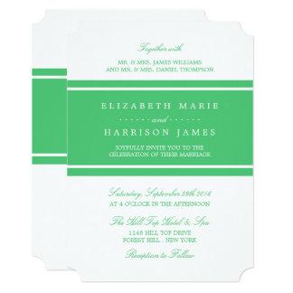 Emerald Green Modern Wedding Card