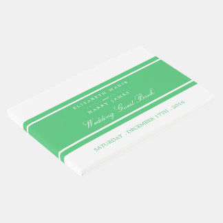 Emerald Green Modern Wedding Guest Book