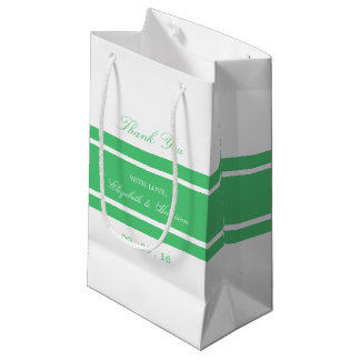 Emerald Green Modern Wedding Small Gift Bag