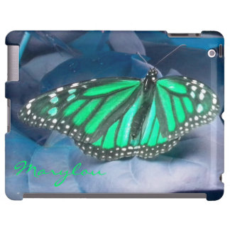 Emerald Green Monarch Butterfly iPad  Case