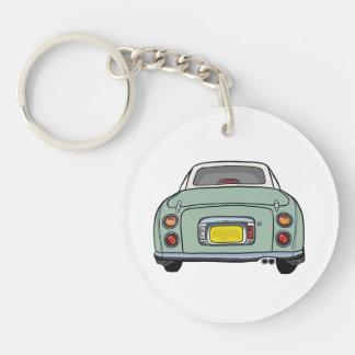 Emerald Green Nissan Figaro Acrylic Keyring Single-Sided Round Acrylic Key Ring