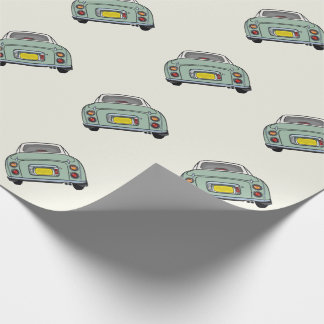 Emerald Green Nissan Figaro Wrapping Paper