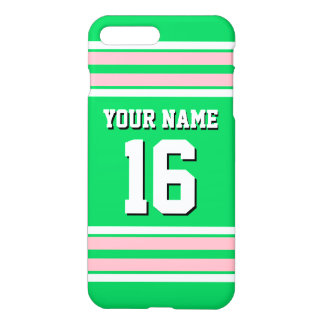 Emerald Green Pink Team Jersey Custom Number Name iPhone 8 Plus/7 Plus Case