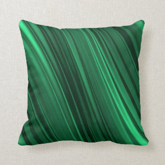 Emerald green shaded stripes cushion