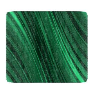 Emerald green shaded stripes cutting boards