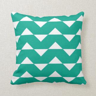 Emerald Green Sparre Pattern Throw Pillow