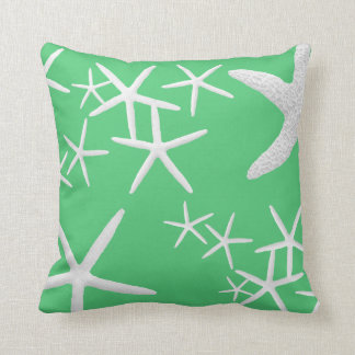 Emerald Green Starfish Decorative Throw Pillow